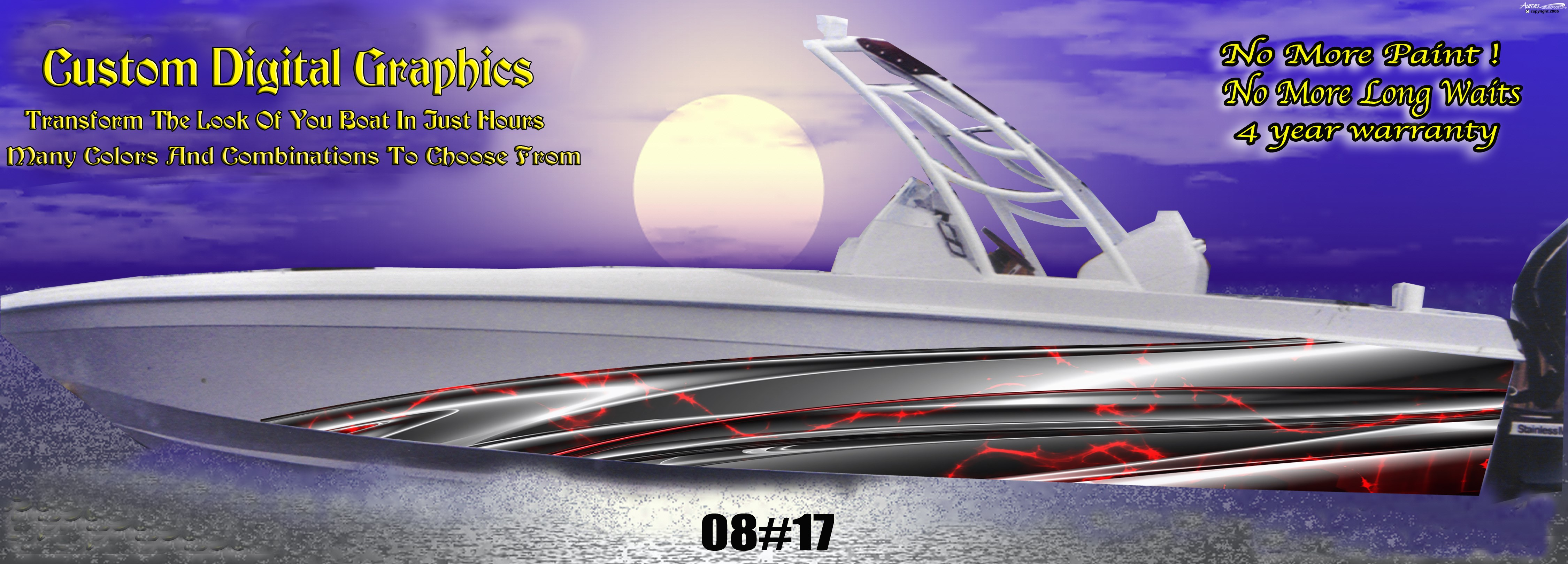 Digital Boat Graphics Signs And Stripes