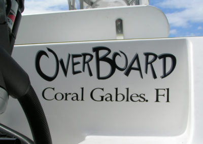 Signs & Stripes Custom Boat Name OverBoard
