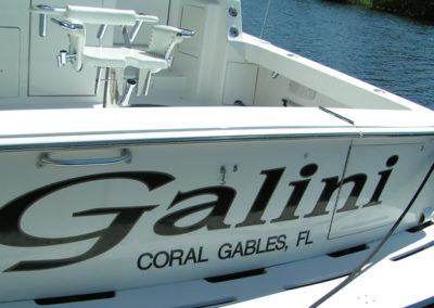 Signs & Stripes Custom Boat Name Galini