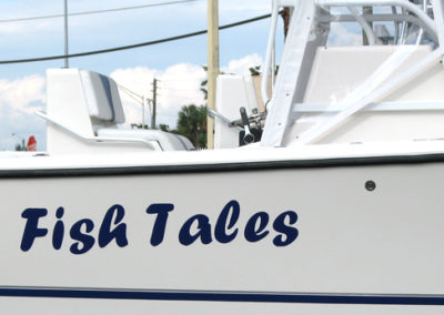 Signs & Stripes Custom Boat Name Fish Tales