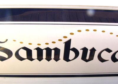 Signs & Stripes Custom Boat Name Sambuca