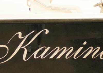 Signs & Stripes Custom Boat Name Kamina