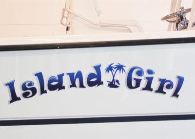 Signs & Stripes Custom Boat Name Island Girl