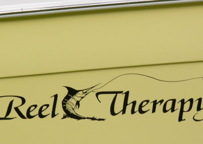 Signs & Stripes Custom Boat Name Reel Therapy