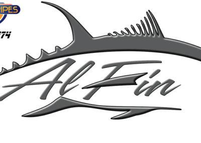 Signs & Stripes Custom Boat Name Al Fin