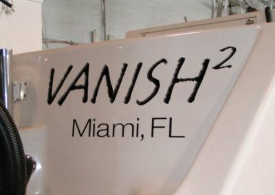 Signs & Stripes Custom Boat Name Vanish2