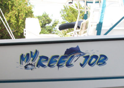 Signs & Stripes Custom Boat Name My Reel Job