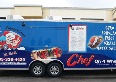 Signs & Stripes Food Truck Wraps Chef On 4 Wheels