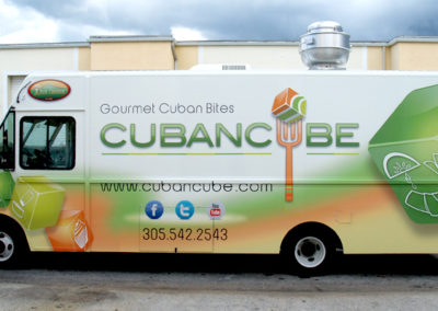 Signs & Stripes Food Truck Wraps Cuban Cube