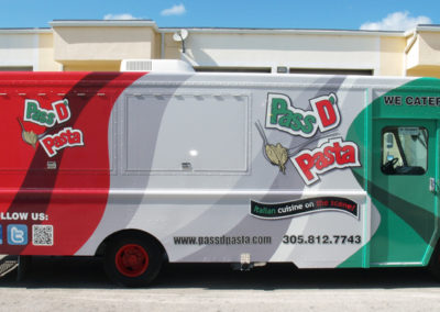 Signs & Stripes Food Truck Wraps Pass D' Pasta