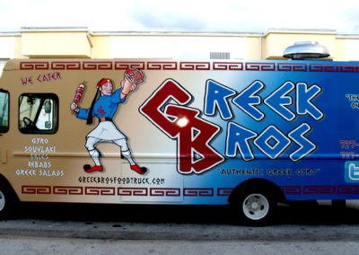 Signs & Stripes Food Truck Wraps Greek Bros