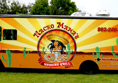Signs & Stripes Food Truck Wraps Nacho Mama's Mexican Grill