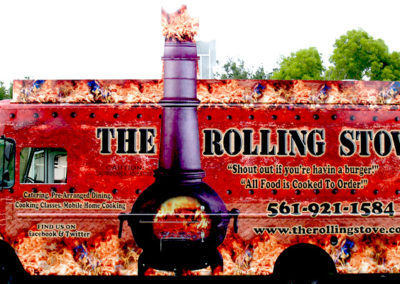 Signs & Stripes Food Truck Wraps The Rolling Stove