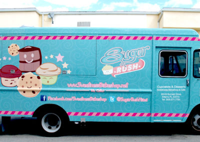 Signs & Stripes Food Truck Wraps Sugar Rush