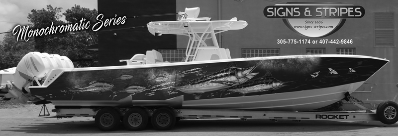 Signs & Stripes Custom Boat Graphics