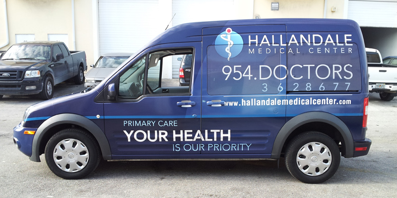Signs and Stripes Company Vehicle Wraps Hallandale Medical Center