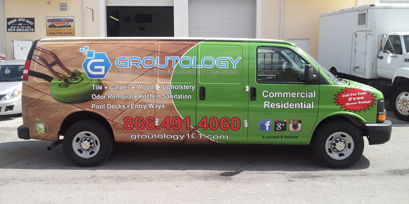 Signs and Stripes Company Vehicle Wraps Groutology