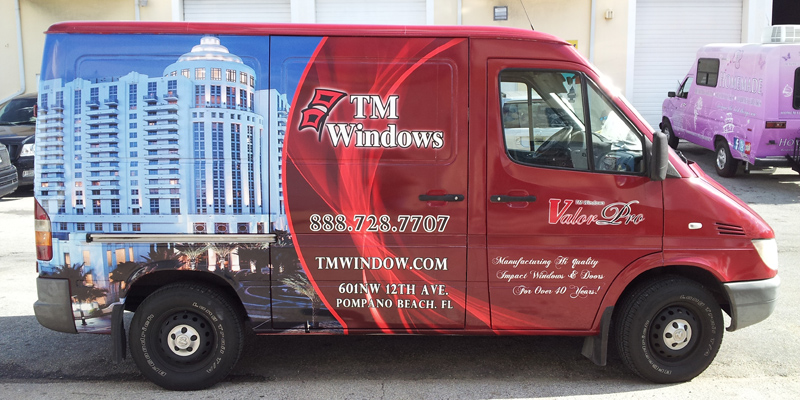Signs and Stripes Company Vehicle Wraps TM Windows