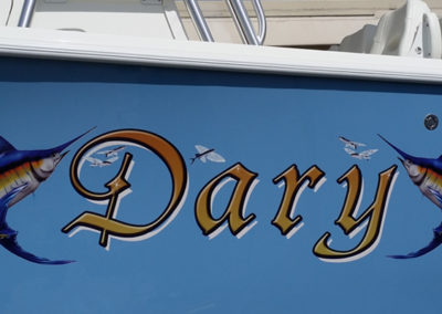 Signs & Stripes Custom Boat Name Dary