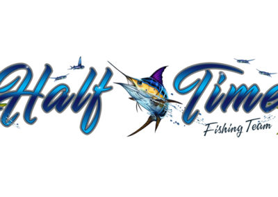 Signs & Stripes Custom Boat Name Half Time Fishing Team