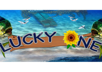 Signs & Stripes Custom Boat Name Lucky One