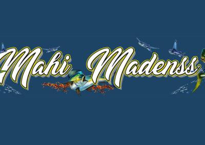 Signs & Stripes Custom Boat Name Mahi Madness