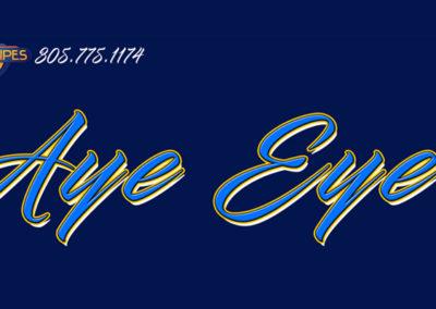 Signs & Stripes Custom Boat Name Aye Eye II