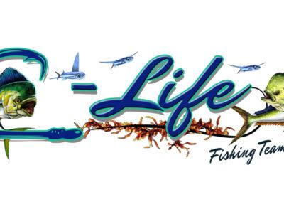 Signs & Stripes Custom Boat Name C-Life Fishing Team