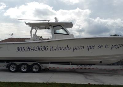 Signs & Stripes Custom Boat Name Cantalo Para Que Se Te Pegue