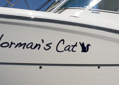 Signs & Stripes Custom Boat Name Norman's Cat
