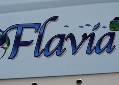 Signs & Stripes Custom Boat Name Flavia