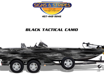 Signs & Stripes Bass Boat